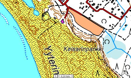 Yyteri (maanmittauslaitoksen maastokartta)